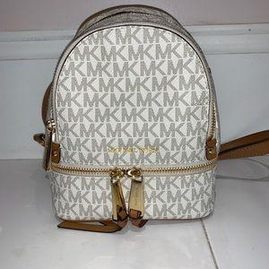 Michael Kors Mini White Backpack